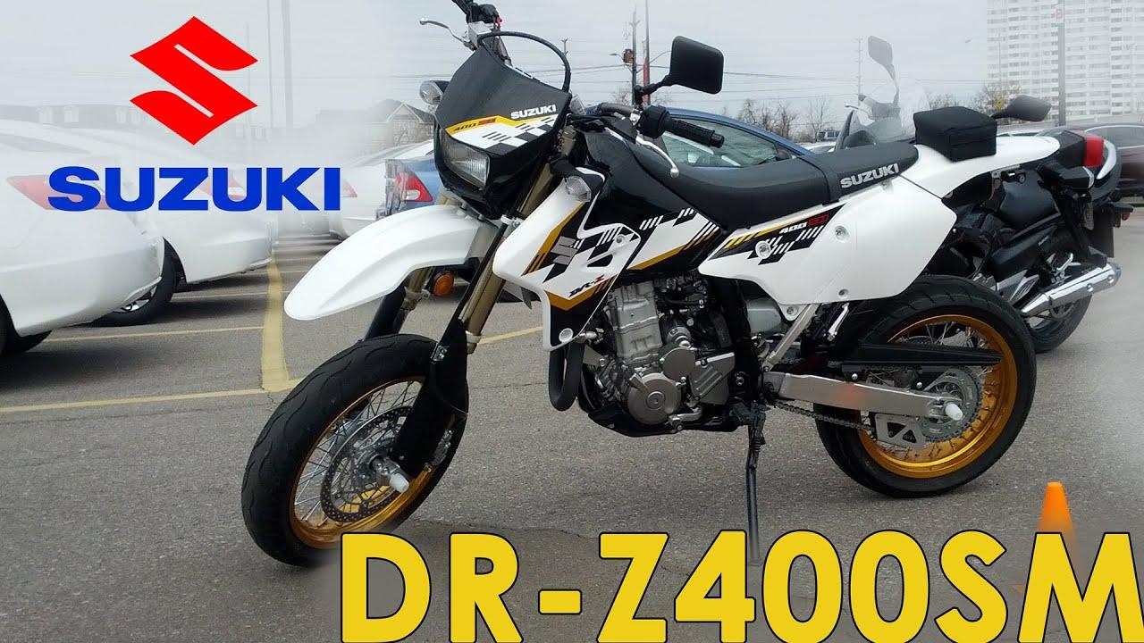 suzuki demo ride - 2015 dr z400sm - youtube