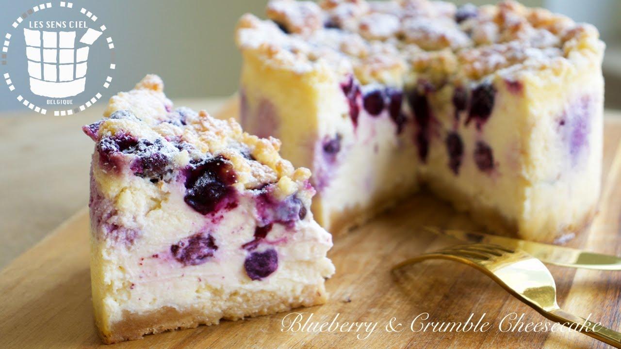 ✴︎超濃厚ブルーベリーのクランブルチーズケーキの作り方✴︎How to make Blueberry & Crumble Cheesecake✴︎ベルギーより#117