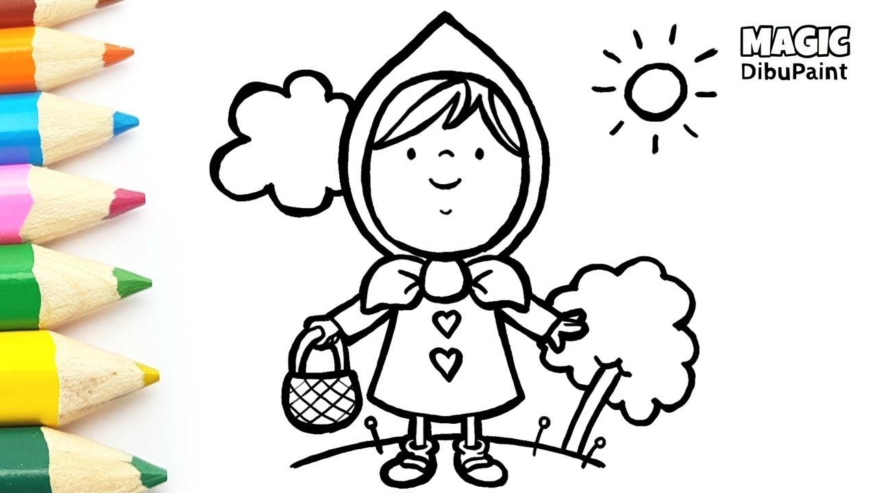 Dibujos Infantiles Dibujar Caperucita Roja Paso A Paso Youtube