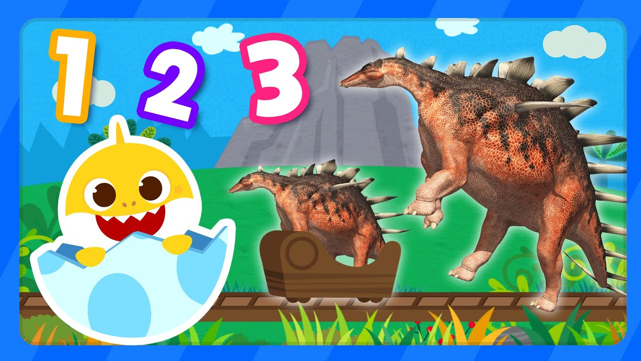 Count the Dinosaurs! | Velociraptor | Learn Numbers | Dinosaurs 1 to 5 with Baby Shark