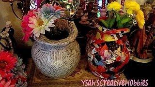 Flower Vase out of Newspaper