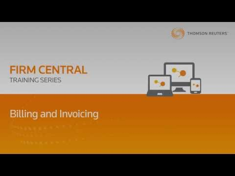 Firm Central Time & Billing Training Series - Billing and Invoicing