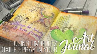 Cactus Love Art Journaling Page