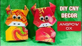 賀年摺紙  DIY Chinese New Year Red Packet Decor   Easy Year of the Ox Origami Tutorial