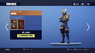 *NEW* MUSHA AND HIME SKIN | FORTNITE ITEM SHOP TODAY (24/8/2018)