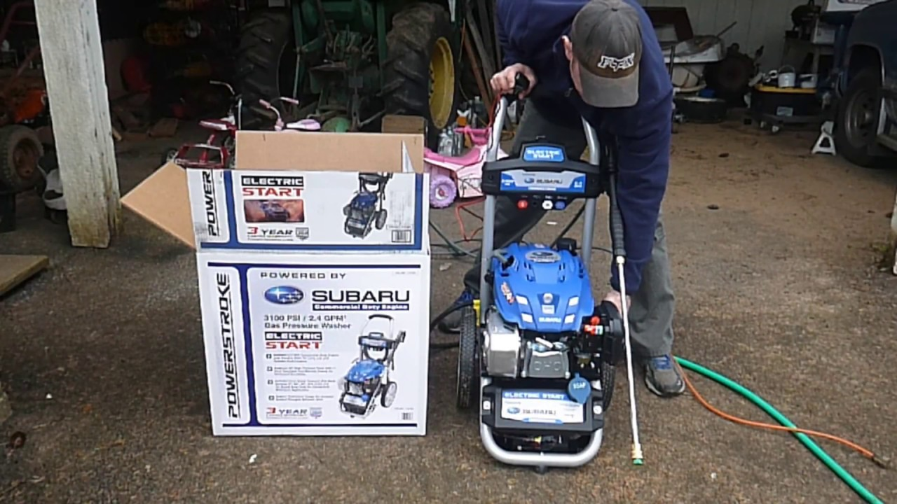 Review Of The Power Stroke 3100 Psi 2 4 Gpm Electric Start