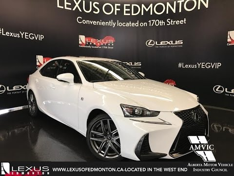 2017 Ultra White Lexus Is 300 Awd F Sport Series 2 In Depth Review East Edmonton Alberta