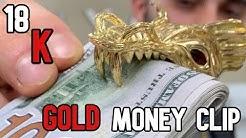 18 K GOLD MONEY CLIP Face Off Movie