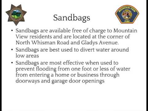 Mountain View Police and Fire Storm Information - Sandbags
