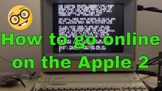 How to go online on a 1970s era computer (the Apple 2). Email, chat, news groups and even twitter!
