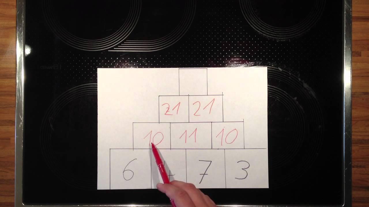 Zahlenpyramide lösen - Mathematik Übungen - YouTube