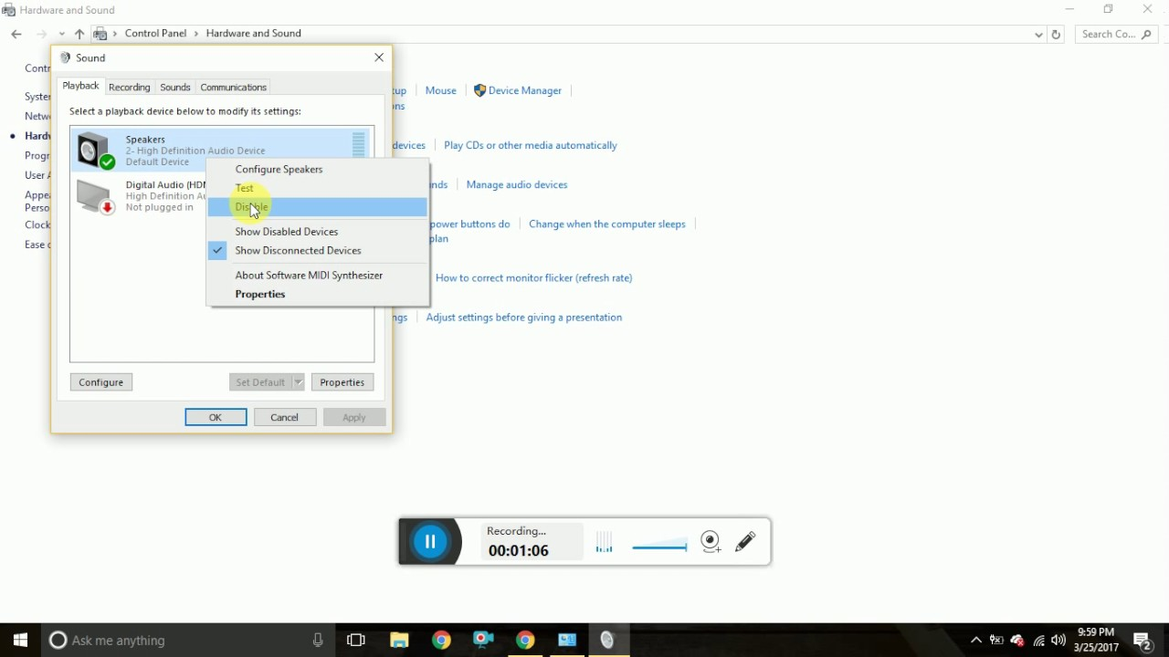 How to Enable Audio Device in Windows 10 windows 7 , 8 - YouTube