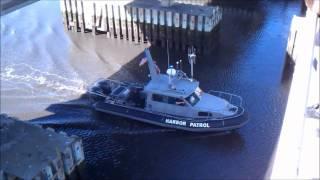 Amazing Video of Boat Hitting Bridge!!! Santa Cruz Harbor Japan Earthquake Tsunami Wave.