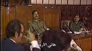 جواب صدام حسين للفرنسي  نادر