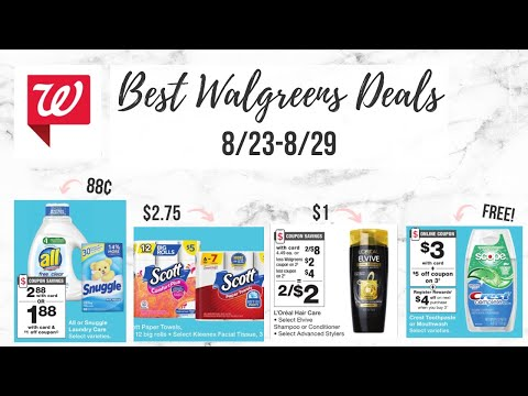 ✨BEST WALGREENS DEALS (8/23-8/29) CHEAP PAPER PRODUCTS, FREE TOOTHPASTE, + BOOSTER SCENARIOS! 🔥