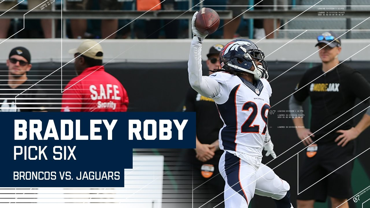 41b8755e Bradley Roby Picks Off Blake Bortles and Returns it for a TD! | Broncos vs.  Jaguars | NFL