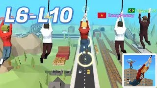 Swing Rider Level 6-10 Walkthrough