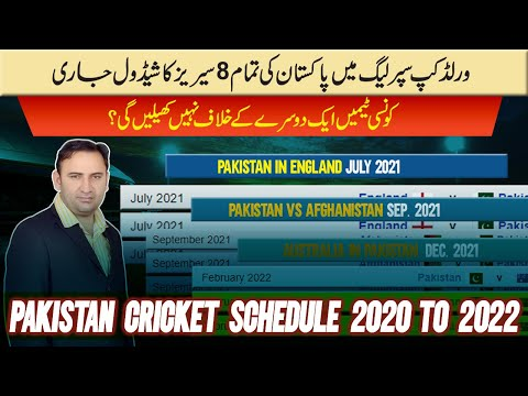 Pakistan's all 8 series schedule in ICC World Cup Super League 2020 | Pakistan cricket series list