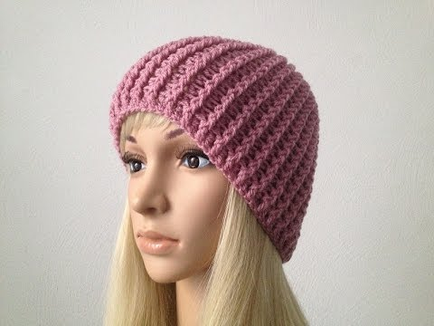 How to Crochet a Beanie Hat P#1?by ThePatterfamily - YouTube