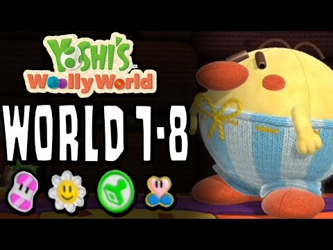Yoshi's Woolly World: Level 1-8 | 100% (Sunny Flowers, Stamp Patches, Wonder Wools & Full Health)