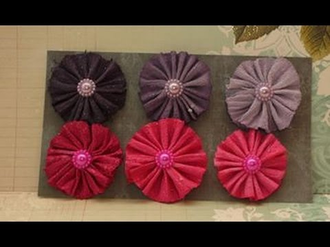 DIY:Easy to make Delightful flowers tutorial by SaCrafters and Cody video!