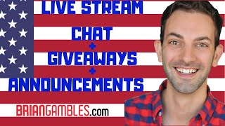 🔴Live Stream CHAT + Giveaways + BIG Announcements! 🔷 Brian Christopher Slots #AD