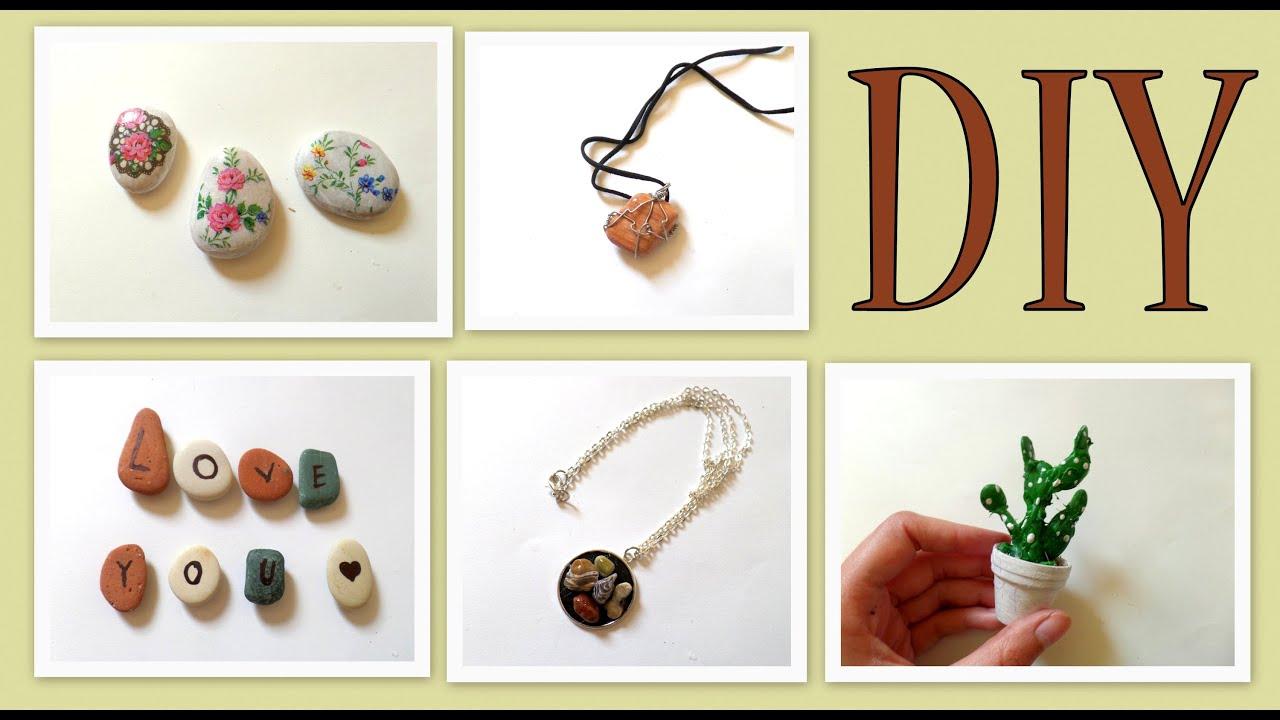 5 Pebble Stones Craft Ideas DIY Beach Themed Coastal