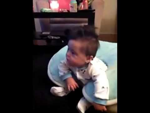 trisomy 21 baby sitting up