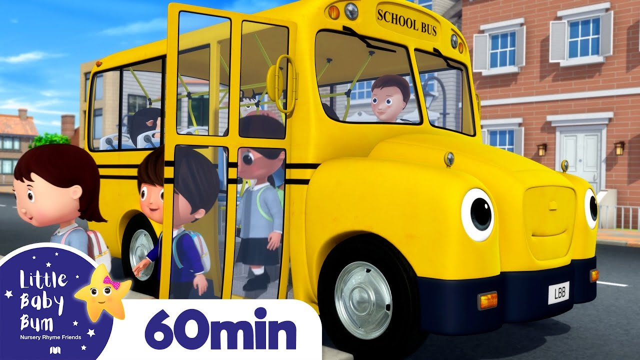 School Bus Song! +More Nursery Rhymes and Kids Songs | Little Baby Bum