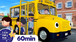 School Bus Song! +More Nursery Rhymes and Kids Songs   Little Baby Bum
