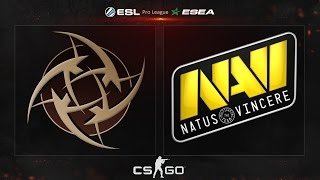 CS:GO - NiP vs. NaVi [Mirage] - ESL ESEA Pro League - Matchday 13