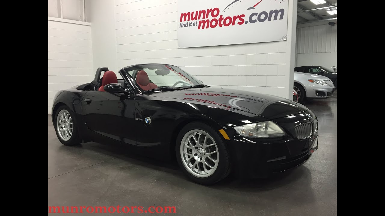2006 Bmw Z4 3 0si 255 Hp 18 Quot Rims Handling Suspension Sold Munro Motors Youtube