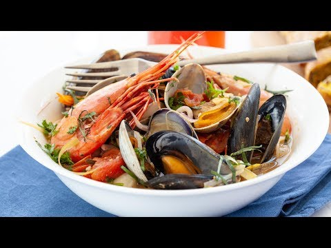 How To Make An Italian Fish Soup - Seafood Soup Recipe - Zuppa Di Pesce