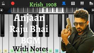 Anjaan - Raju Bhai BGM with Notes | Easy Piano Tutorial | Piano Cover | Krish_1908