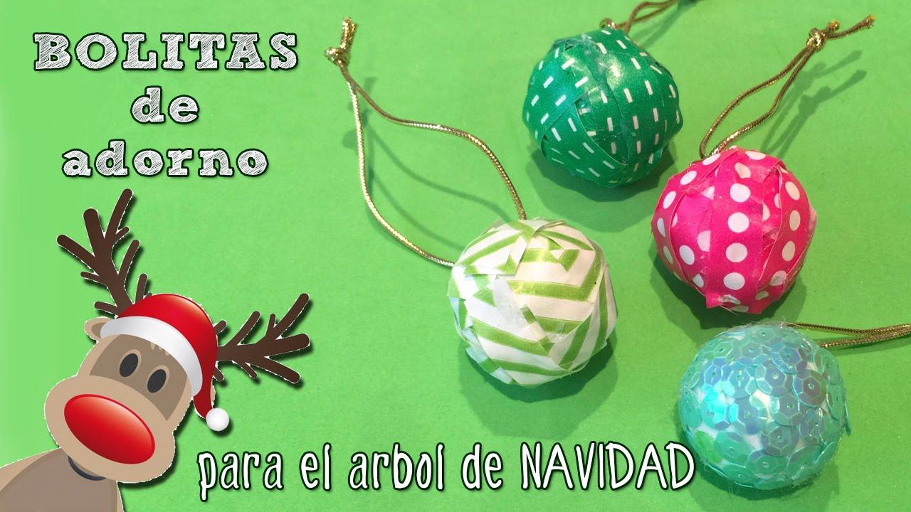Decorar Arbol Navidad En Papel.Bolitas De Navidad Para El Arbol Manualidad Facil