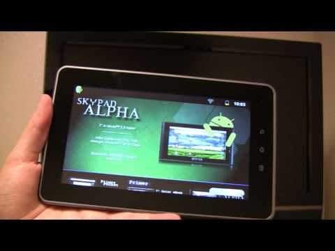 SKYPAD Alpha 2 eReading and Web Surfing
