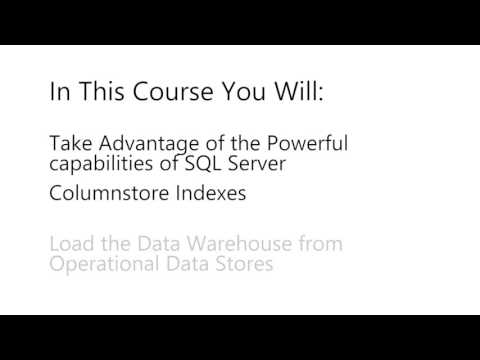 Data Warehouse Design for BI & Analytics | Microsoft on edX | Course About Video