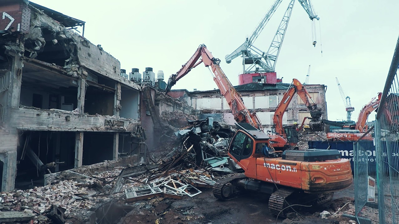Dust Control With Dynaset High Pressure Suppression At Challenging Demolition Site