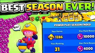 MAX STAR POINTS u0026 TOP GLOBAL!! 35,000 STAR POINTS AT ONCE IN BRAWL STARS!! MORE GOLD SKINS SOON?!