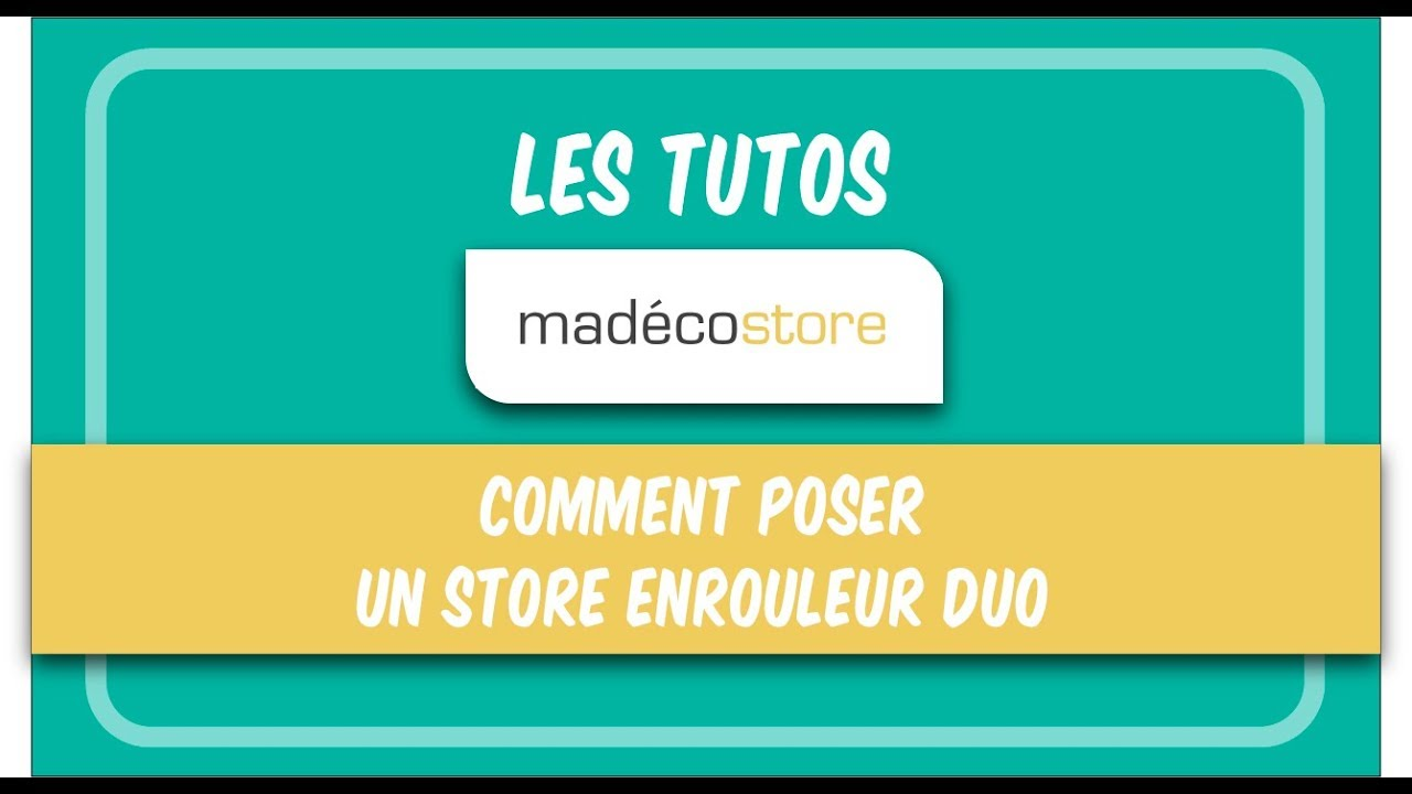 pose store enrouleur comment poser un store enrouleur duo youtube. Black Bedroom Furniture Sets. Home Design Ideas