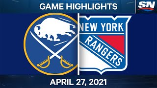NHL Game Highlights   Sabres vs. Rangers – Apr. 27, 2021
