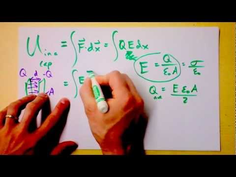Potential Energy Stored in a Capacitor | Doc Physics