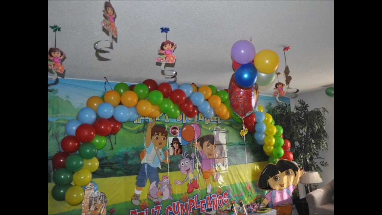 My daughter 3rd bithday party dora diego theme for Dora themed bedroom designs