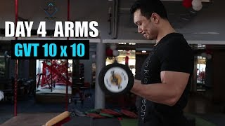GVT (10 x 10) |DAY 4 ARMS & ABS| 8 Weeks Muscle Building plan by JEET SELAL
