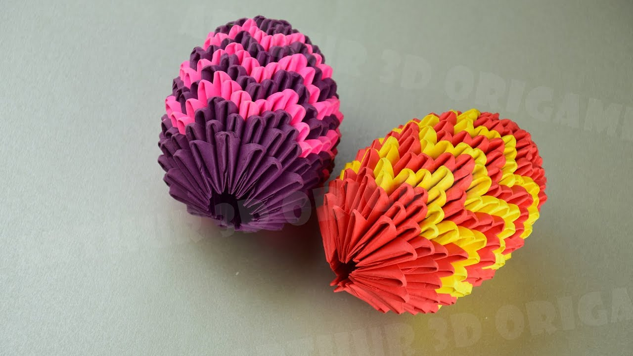 How to make 3d origami Easter egg - YouTube   720x1280