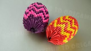 3D Origami Paper Egg for Easter ♡ Awesome Clear Tutorial