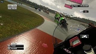 MotoGP 14 Rainy Race Gameplay (PC HD)