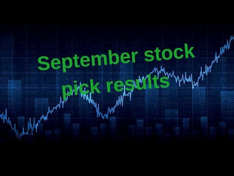 Tracking the performance of my September 2017 stock picks