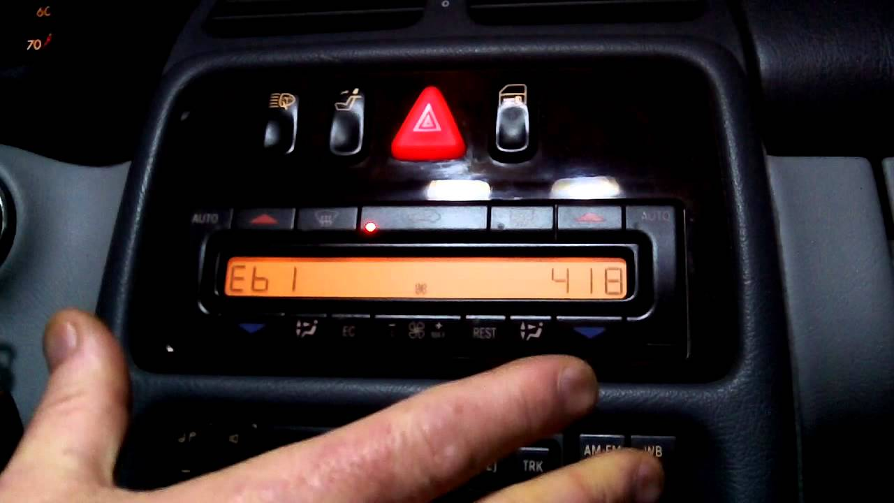 For An Ac Heater Wiring Diagram Mercedes W208 Clk320 How To Display Climate Control Fault