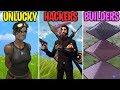 Wielding Multiple Guns! UNLUCKY vs HACKERS vs BUILDERS! Fortnite Battle Royale Funny Moments